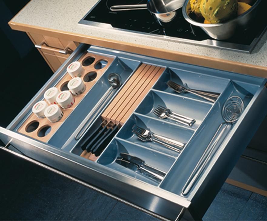 Plastic Cutlery Insert For Nominal Depth 500 Mm For Cabinet Width 300 1000 Mm H Fele U K Shop