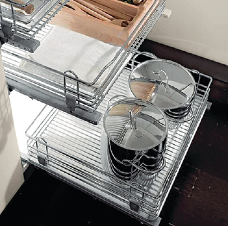 Marvelous Pull Out Chrome Wire Basket, For Door Front Fixing Cabinets