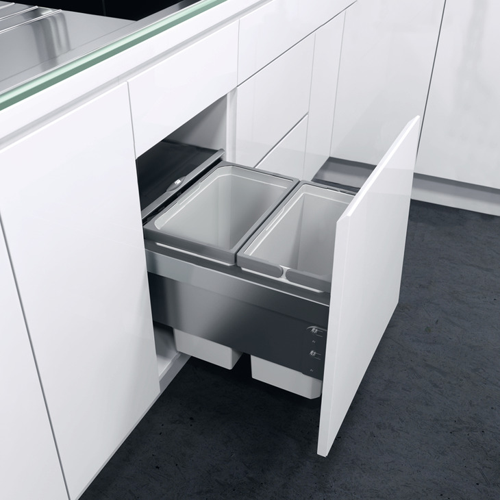 Pull Out Waste Bin For Cabinet Width 400 Mm Vauth Sagel