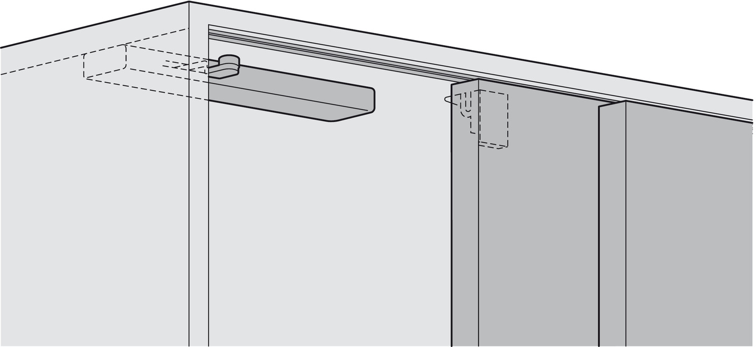 Soft Closing System For Sliding Cabinet Doors Eku Häfele