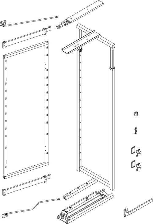 Swing Out Pantry Unit Complete Set Centre And Door