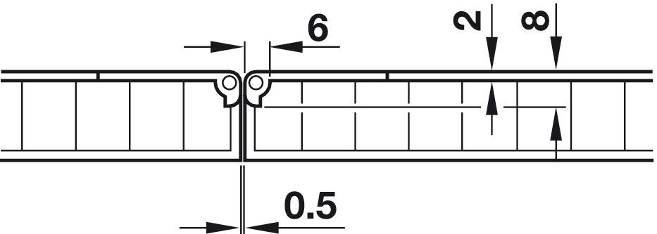 Table Hinge Self Supporting Folding H 228 Fele U K Shop