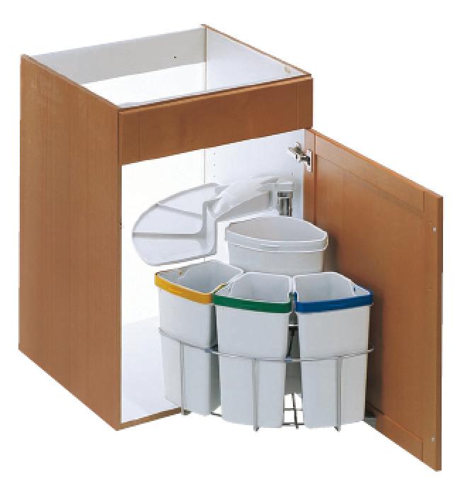 Waste Bin Swing Out For Cabinet Width Min 500 Mm Vauth Sagel Vs Envi Center H Fele U K Shop
