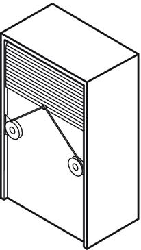 Roller Shutter For Tambour Doors Plastic H 228 Fele U K Shop
