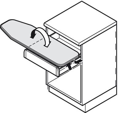 Ironing board built in ironfix h fele u k shop - Table a repasser euroflex ...