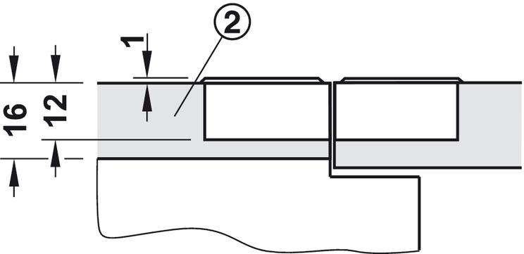 Hafele 90° Flap Hinges Nickel Plated Screw Fixing Furniture Cupboard Door Hinge